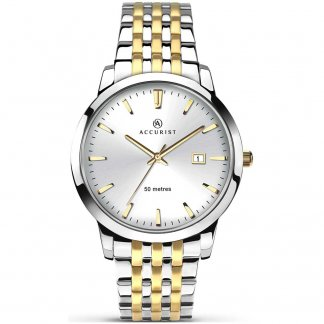 Men's Classic Two Tone Quartz Watch