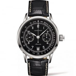 Men's Column-Wheel Single Push-Piece Chronograph Watch