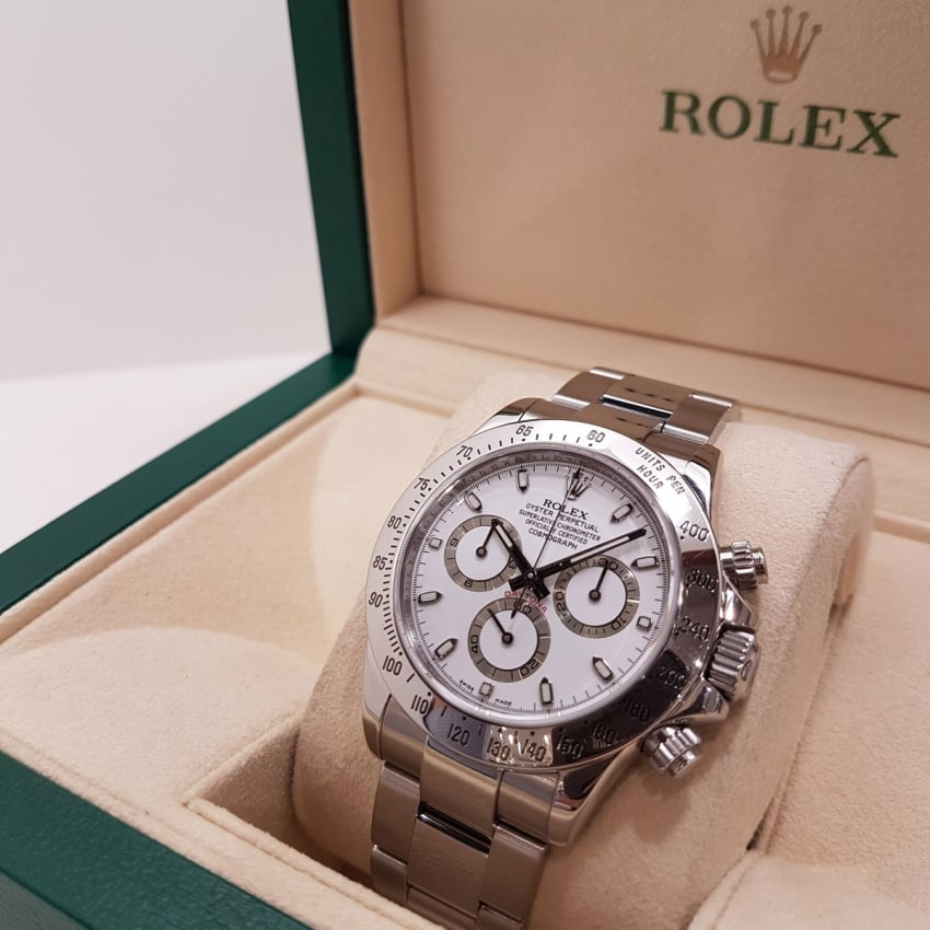 Pre-Owned Rolex Men's Cosmograph Daytona Steel Bezel 116520 (2010) 116520
