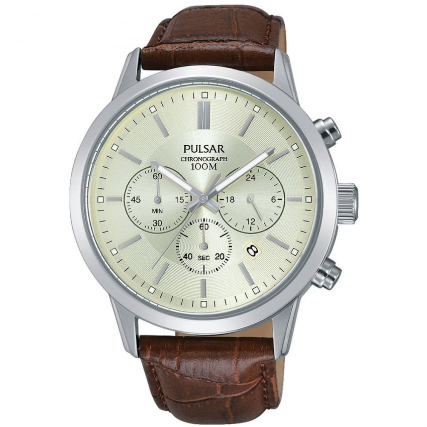 Men's Cream Dial Chronograph Watch PT3745X1