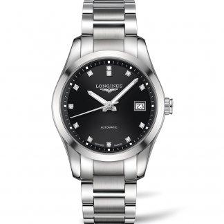 Men's Diamond Set Conquest Classic Automatic Watch L2.785.4.58.6