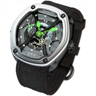 Organic Time 1 Green Watch on Black Nylon Strap OT-1