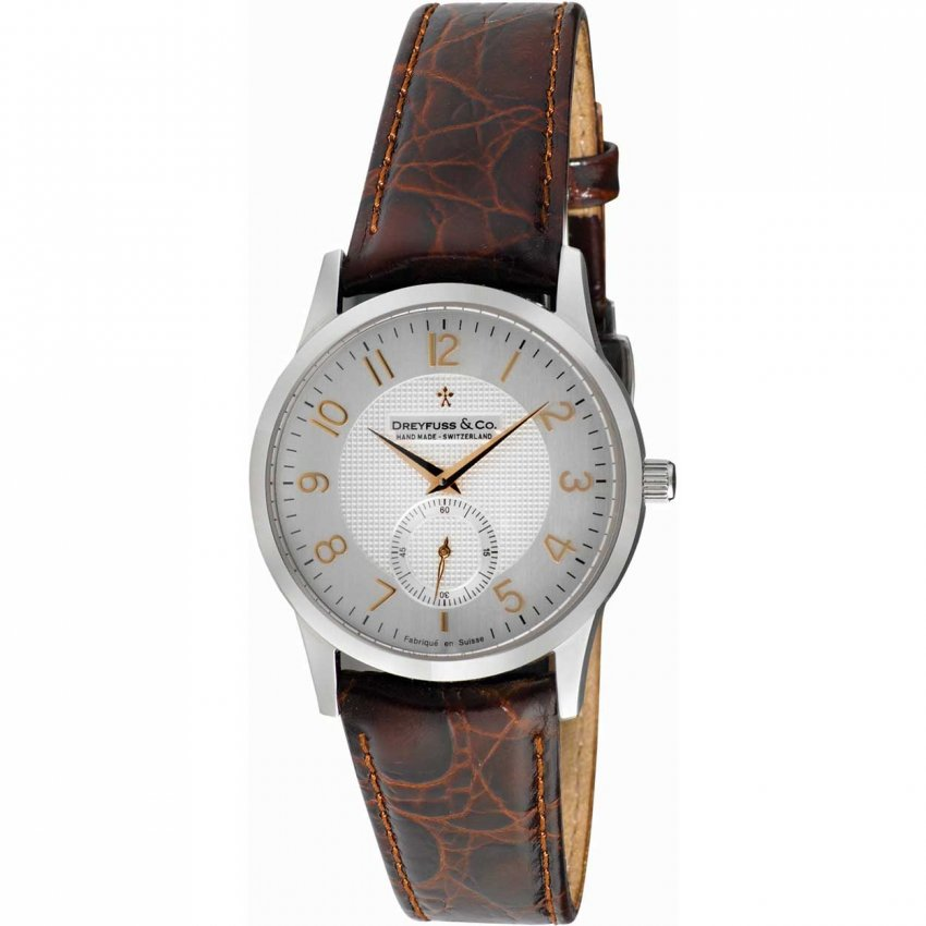 Dreyfuss & Co Men's 1946 Brown Croco Leather Strap Watch DGS00001/22