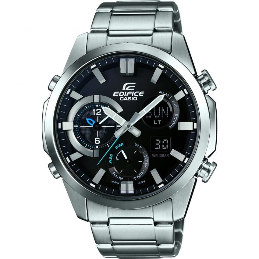 Casio Edifice Men's Dual Time Chronograph Steel Watch ERA-500D-1AER