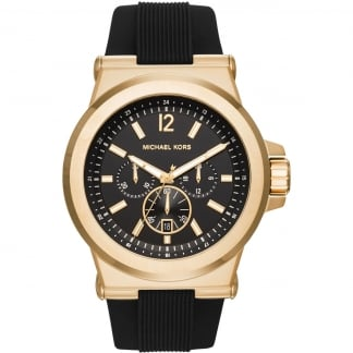 Men's Dylan Gold Tone Rubber Chronograph Watch