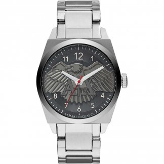 Men's Eagle Motif Dial Bracelet Watch
