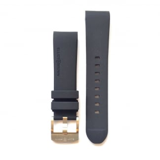 Men's Black Rubber Strap with Steel Buckle STR-R08
