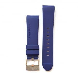 Men's Navy Blue Rubber Strap with Steel Buckle STR-R03