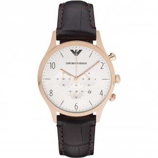 Men's Leather Chronograph Watch AR1916