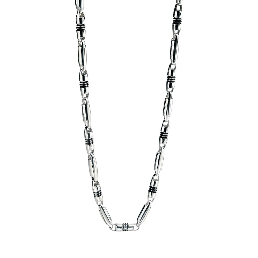 Fred bennett mens silver n2182 necklace francis gaye jewellers men039s oval link 20quot aloadofball Choice Image