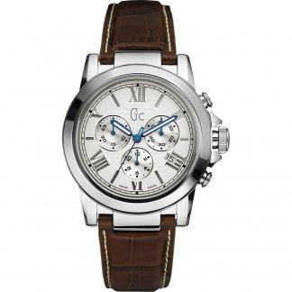 Men's Brown Leather Strap B2-Class Chronograph Watch X41003G1