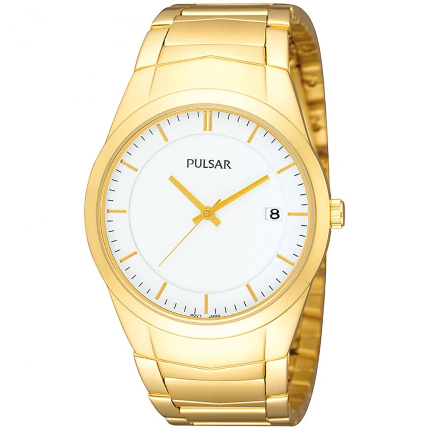 Pulsar Men's Gold Plated Date Display Watch PS9150X1