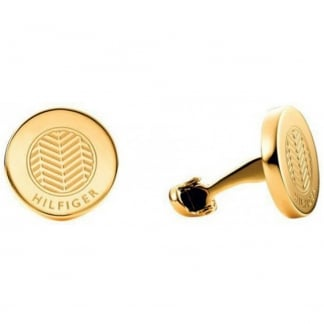 Men's Gold Stainless Steel Cufflinks