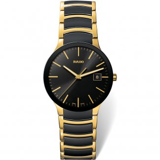 Centrix Men's Gold Steel & Black Ceramic Watch R30929152