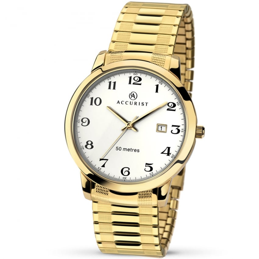 Accurist Men's Gold Tone Expander Watch 7081