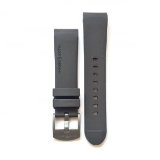 Men's Grey Rubber Strap with Grey Buckle
