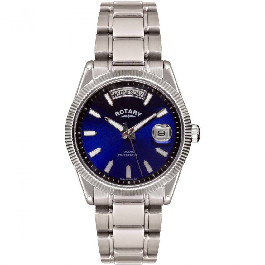Rotary Men's Havana Blue Day/Date Dial Watch GB02660/05