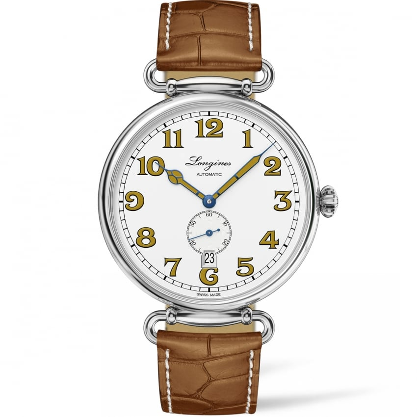 Longines Men's Heritage Classic 1918 Tan Leather Automatic Watch L2.809.4.23.2