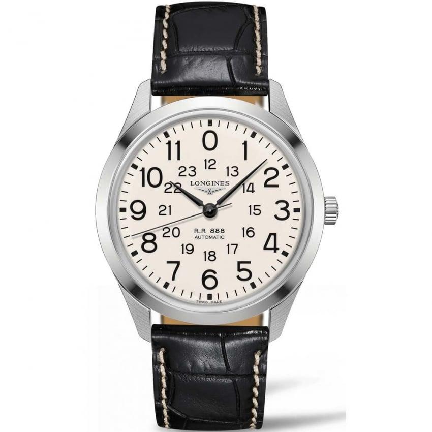 Longines Men's Heritage Military 1935 'Railroad' Watch L2.803.4.23.0
