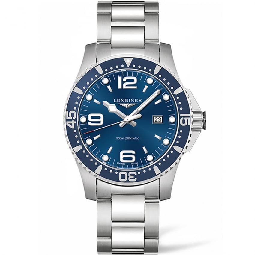 Longines Men's HydroConquest 44MM Blue Dial Quartz Watch L3.840.4.96.6