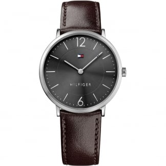 Men's James Ultra Slim Brown Strap Watch