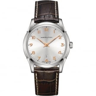 Men's Jazzmaster Thinline Quartz Brown Leather Watch