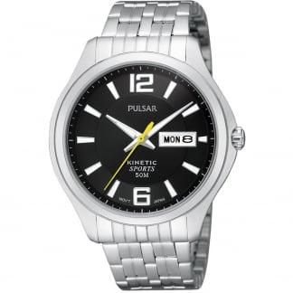 Men's Kinetic Black Dial Sports Bracelet Watch PD2039X1