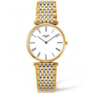 Men's La Grande Classique Gold & Steel Quartz Watch L4.709.2.11.7