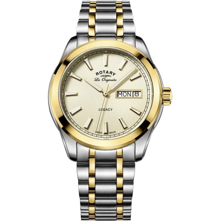 Rotary Men's Legacy Two Tone Day-Date Swiss Watch GB90174/03