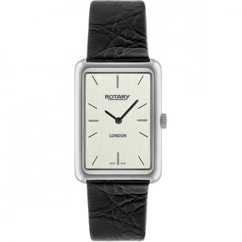 Rotary Men's London Black Leather Dress Watch GS90989/32