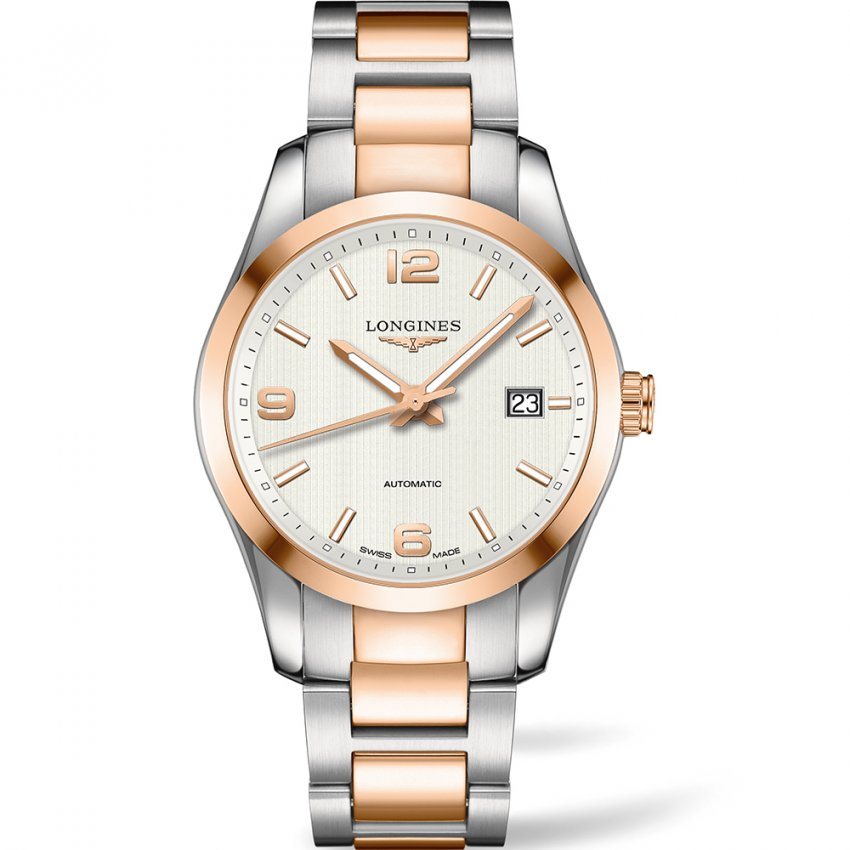 men s longines l2 785 5 76 7 watch official uk outlet francis men 039 s conquest classic two tone automatic watch
