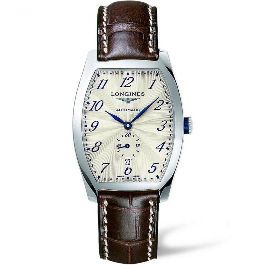 Shop men 39 s longines evidenza watch francis gaye jewellers for Longines leather strap