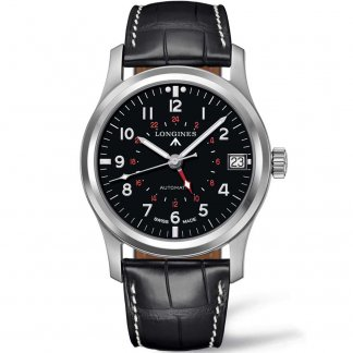 Men's Heritage Automatic Black Leather Strap Watch L2.831.4.53.0