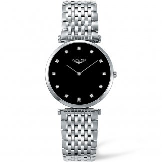 Men's La Grande Classique Black Diamond Dial Watch L4.709.4.58.6