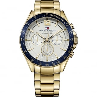 Men's Luke Multifunction Gold Tone Bracelet Watch