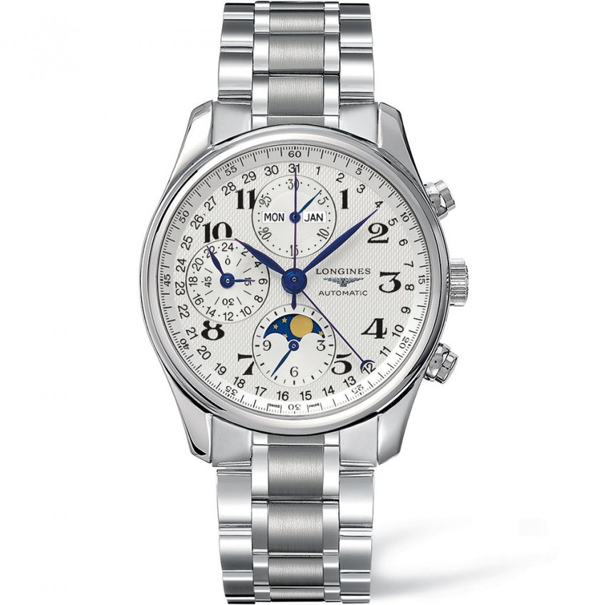 Longines Men's Master Collection Moonphase Chronograph Watch L2.673.4.78.6
