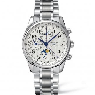 Men's Master Collection Moonphase Chronograph Watch L2.673.4.78.6