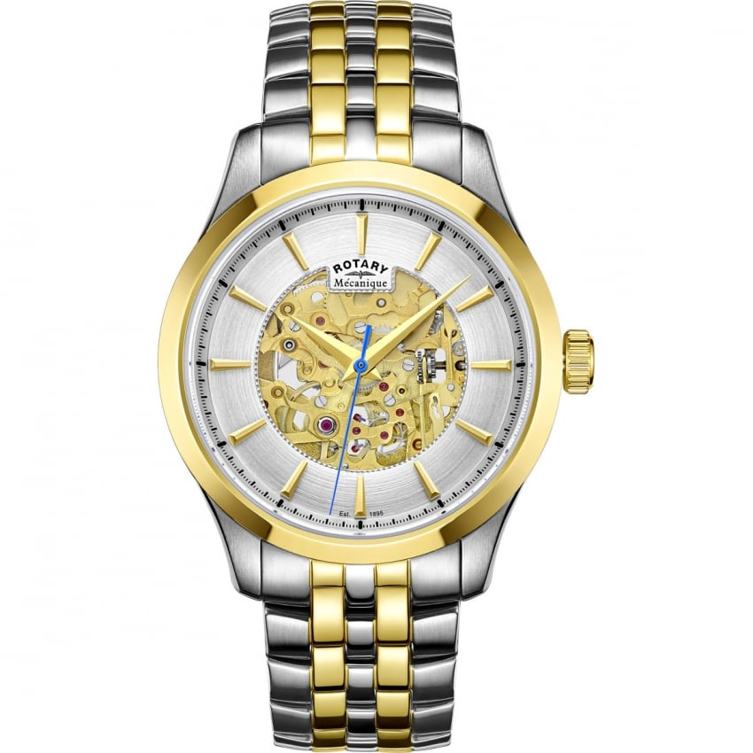 Rotary Men's Mecanique Two Tone Automatic Skeleton Watch GB05033/06