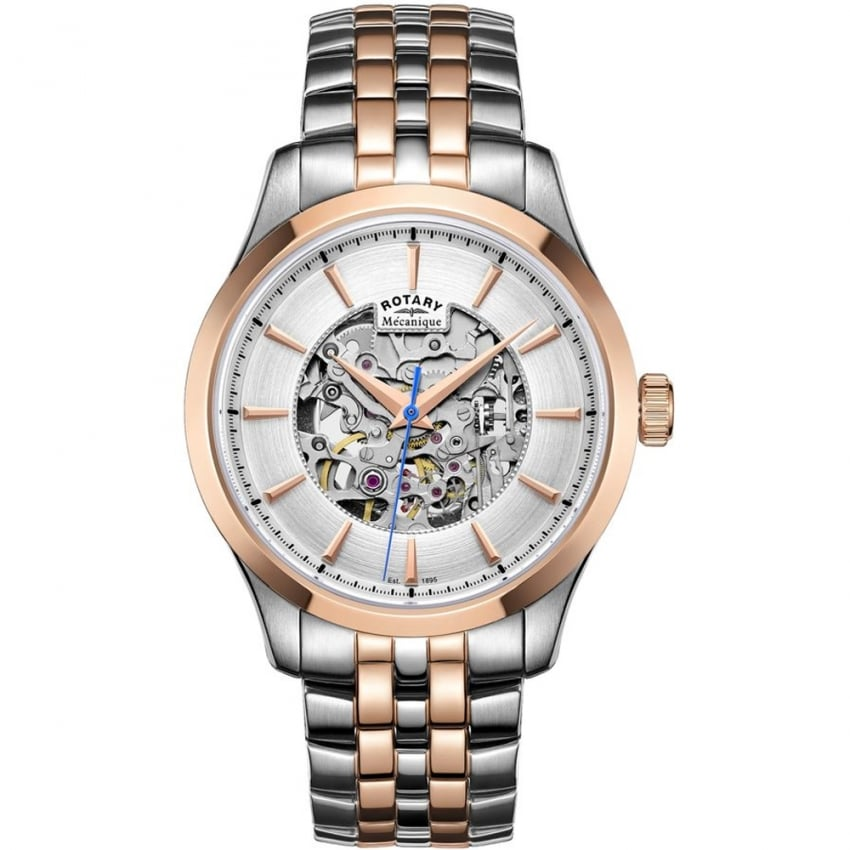 Men's Mecanique Two Tone Automatic Skeleton Watch GB05034/06