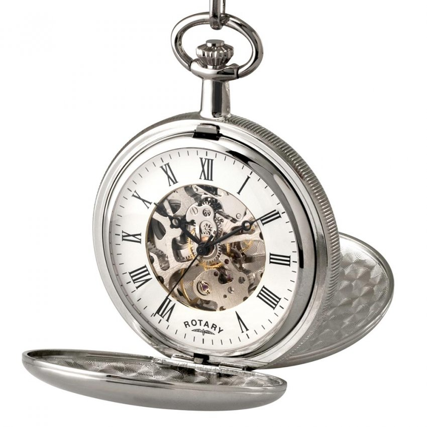 Men's Mechanical Pocket Watch with Skeleton Dial MP00726/01