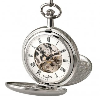 Men's Mechanical Pocket Watch with Skeleton Dial