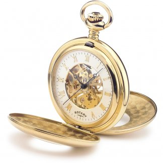 Men's Mechanical Skeleton Face Gold Plated Pocket Watch MP00713/01