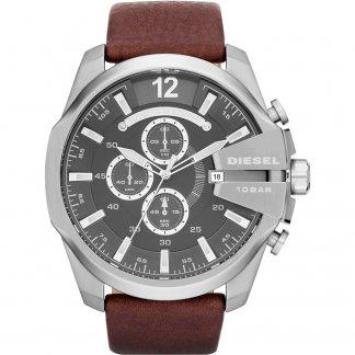 Men's Mega Chief Leather Chronograph Watch