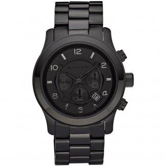 Men's Runway Black PVD Chronograph Watch MK8157