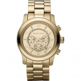 Men's Runway Gold Tone Chronograph Watch MK8077