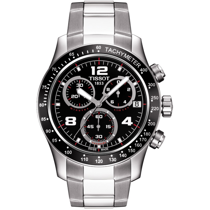Tissot Men's Multifunction V8 Steel Bracelet Watch T039.417.11.057.02