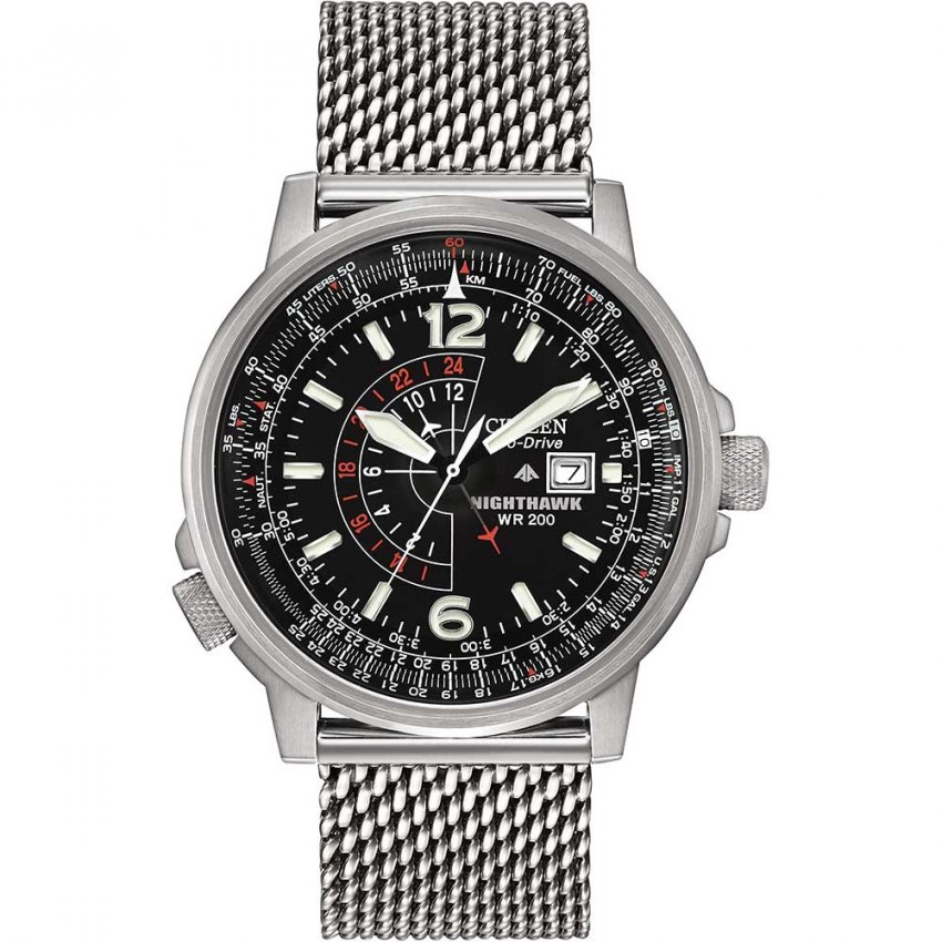 Citizen Men S Nighthawk Mesh Bracelet Eco Drive Watch
