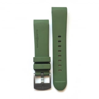 Men's Olive Green Rubber Strap with Grey Buckle