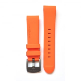 Men's Orange Rubber Strap with Grey Buckle