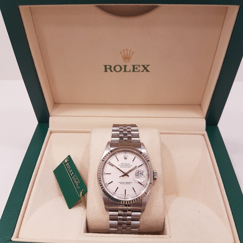 Pre-Owned Rolex Men's Oyster Perpetual DateJust Steel 16234 (2002) 4018873